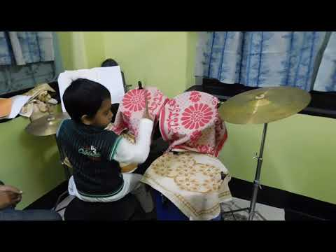 5 year old kid playing drums | Drum Classes in Kolkata