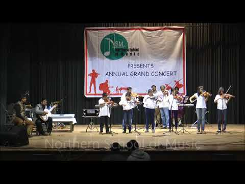 Auld Lang Syne, Purano Shei Diner Kotha & Piyu Bole - Violin with Keyboard, Cajon & Classical Guitar - NSM Annual Grand Concert 2017