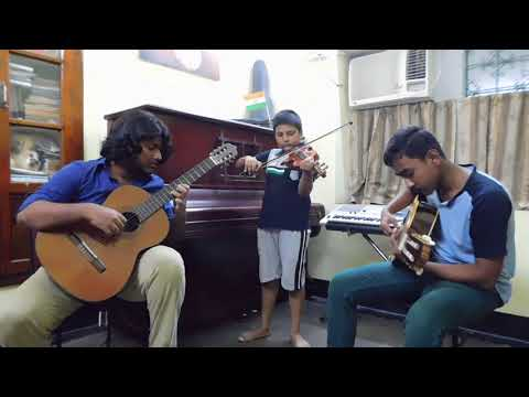 Indian National Anthem (Improvisation) - Classical Guitar and Violin