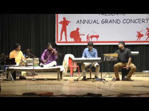 Indian Classical Music on Violin with Tabla, Keyboard and Cajon - NSM Annual Grand Concert 2017