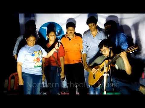 Shohorer Ushnotomo Dine - Indian Vocal, Classical Guitar - Rooftop Concert, May 2018 - NSM Music School Kolkata